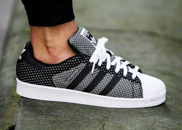 quality design 82dc5 f7acf Adidas Superstar Weave Black White (1)