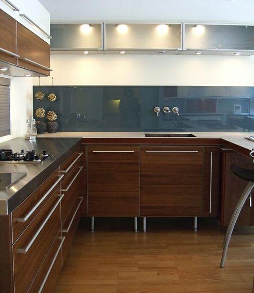 Wohnideen für Küche Glasrückwand glanzvoll farben leuchtend - glasrückwand küche beleuchtet