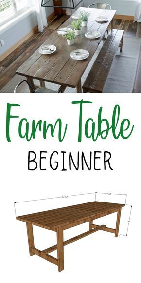 Beginner Farm Table (2 Tools + $50 Lumber)