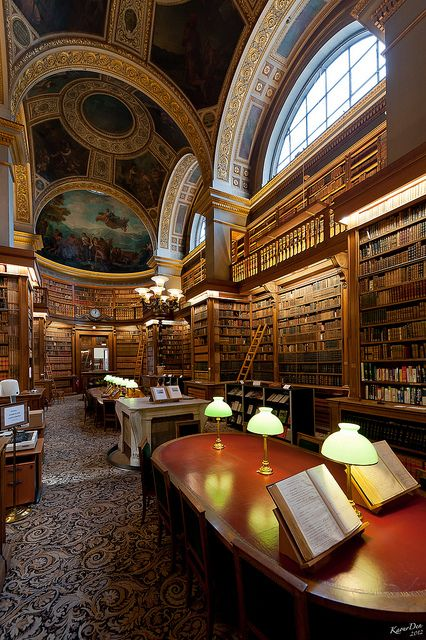 "Library, Paris, France  ""The real reading begins when we no longer read only for entertainment and escape, but to find. ""(John Guéhenno (1890-1978))"