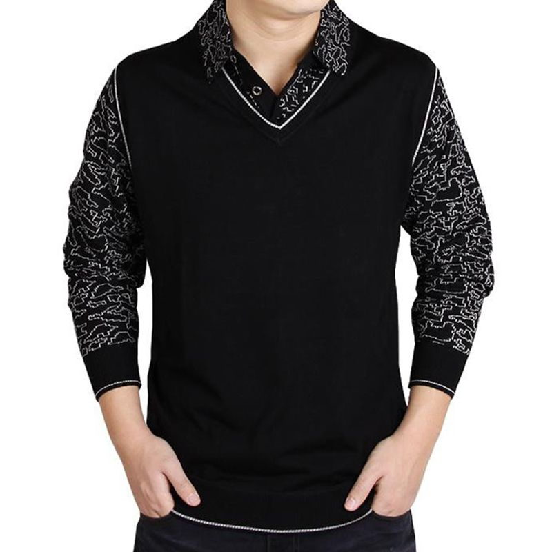 3377bc61c9458 Click to Buy    2017 social cotton thick men s pullover sweaters casual  crocheted