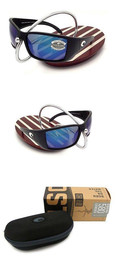 a3322be8c9b Sunglasses 79720  New Costa Del Mar Blackfin Black 580 Blue Mirror Glass  580G -