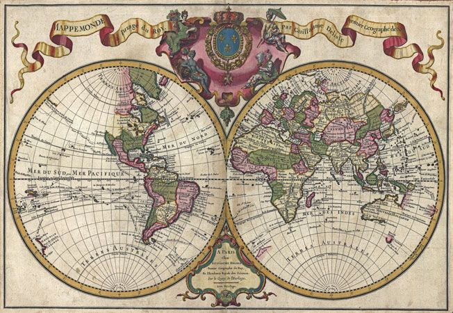 Details about mp21 vintage historical 1720 nautical chart world map details about mp21 vintage historical 1720 nautical chart world map poster print a1 a2 a3 gumiabroncs Choice Image
