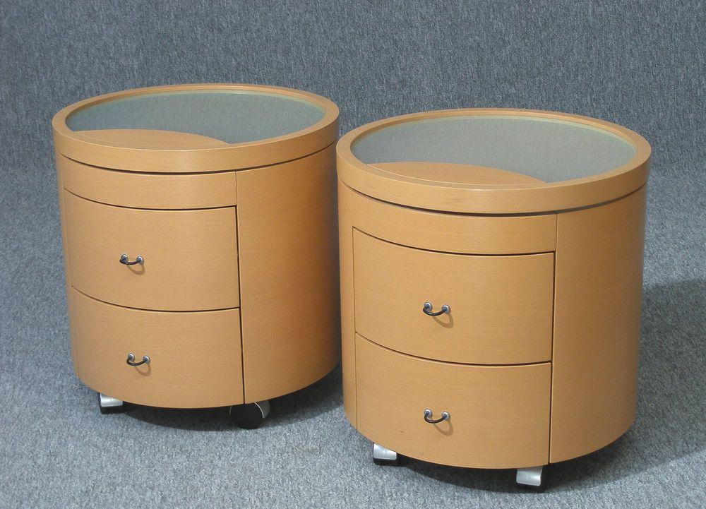 Pair Of Hulsta Furniture Primo Dc Range Bedside Cabinets Bed