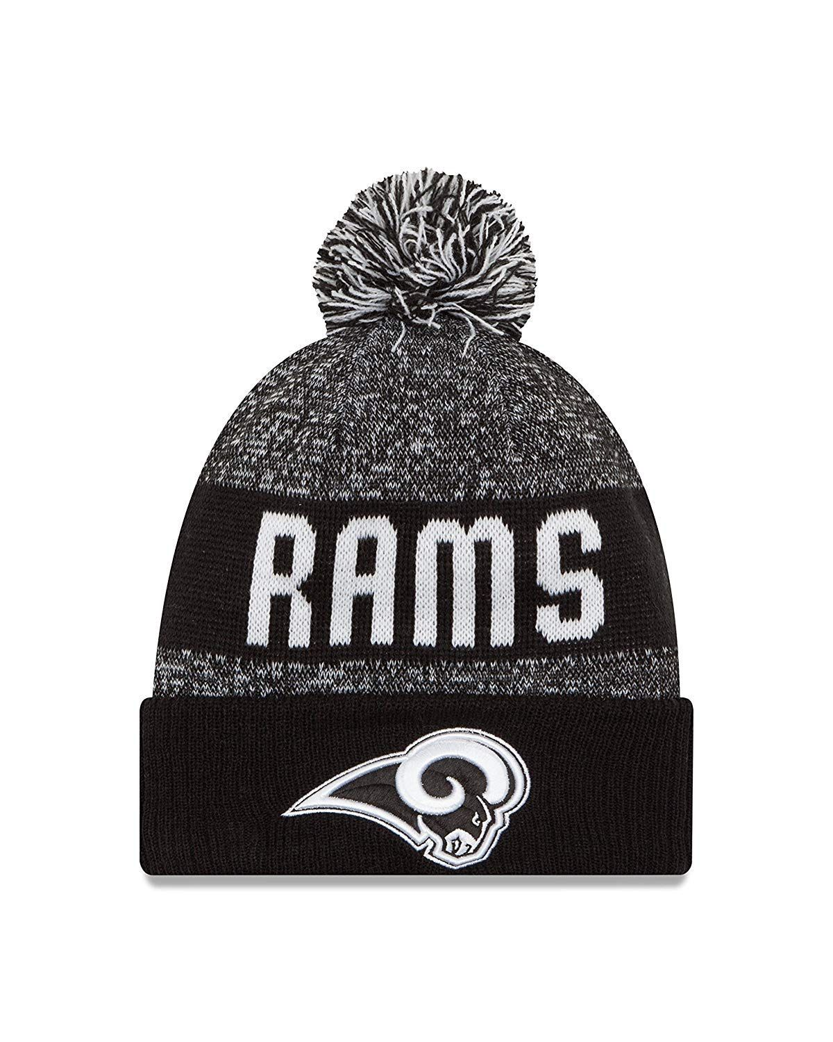 53b7af2e423c7 Los Angeles Rams Knit Beanie with Pom Hat