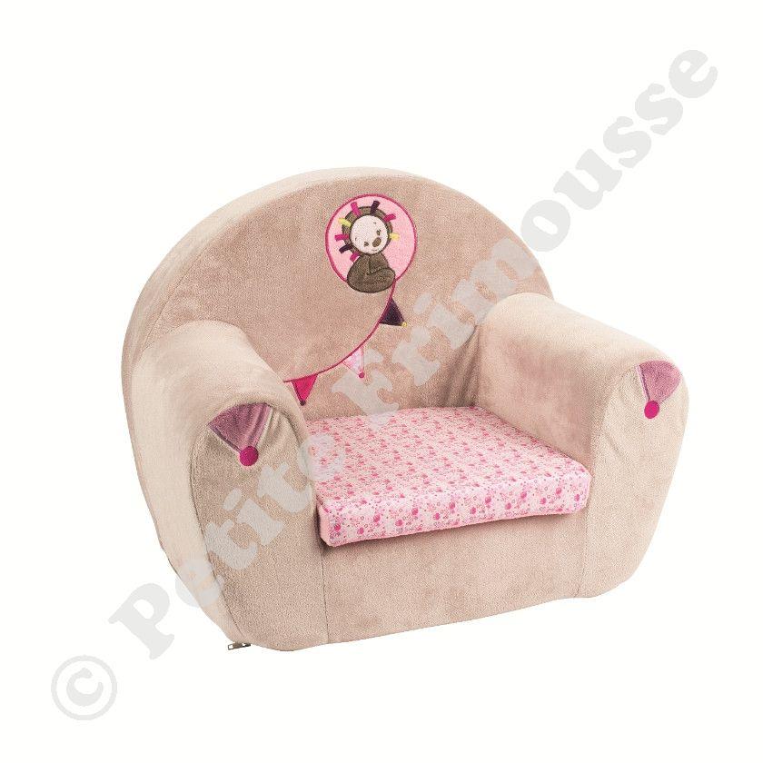 Sofa manon aliz rose et taupe id e chambre b b - Chambre bebe rose et taupe ...