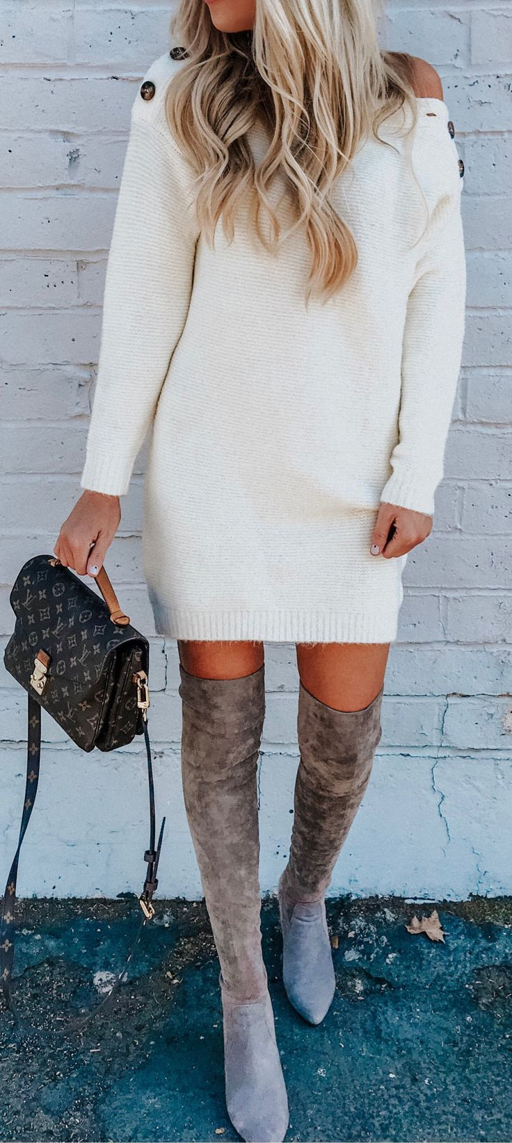 white sweater dresses for fall