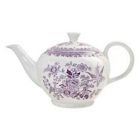 Burleigh Pottery Burleigh Plum Asiatic Pheasants Teapot Large Tea Pots Transferware Pink Tea