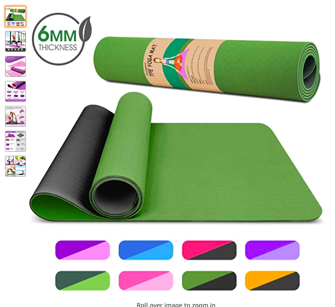 Dralegend Yoga Mat Exercise Fitness Mat High Density Non Slip Workout Mat For Yoga In 2020 Mat Exercises Pilates Workout Sweat Proof