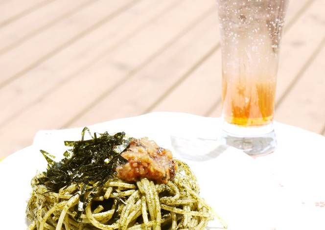 Ume and Shiso Leaf Genovese Pasta Recipe -  How are you today? How about making Ume and Shiso Leaf Genovese Pasta?