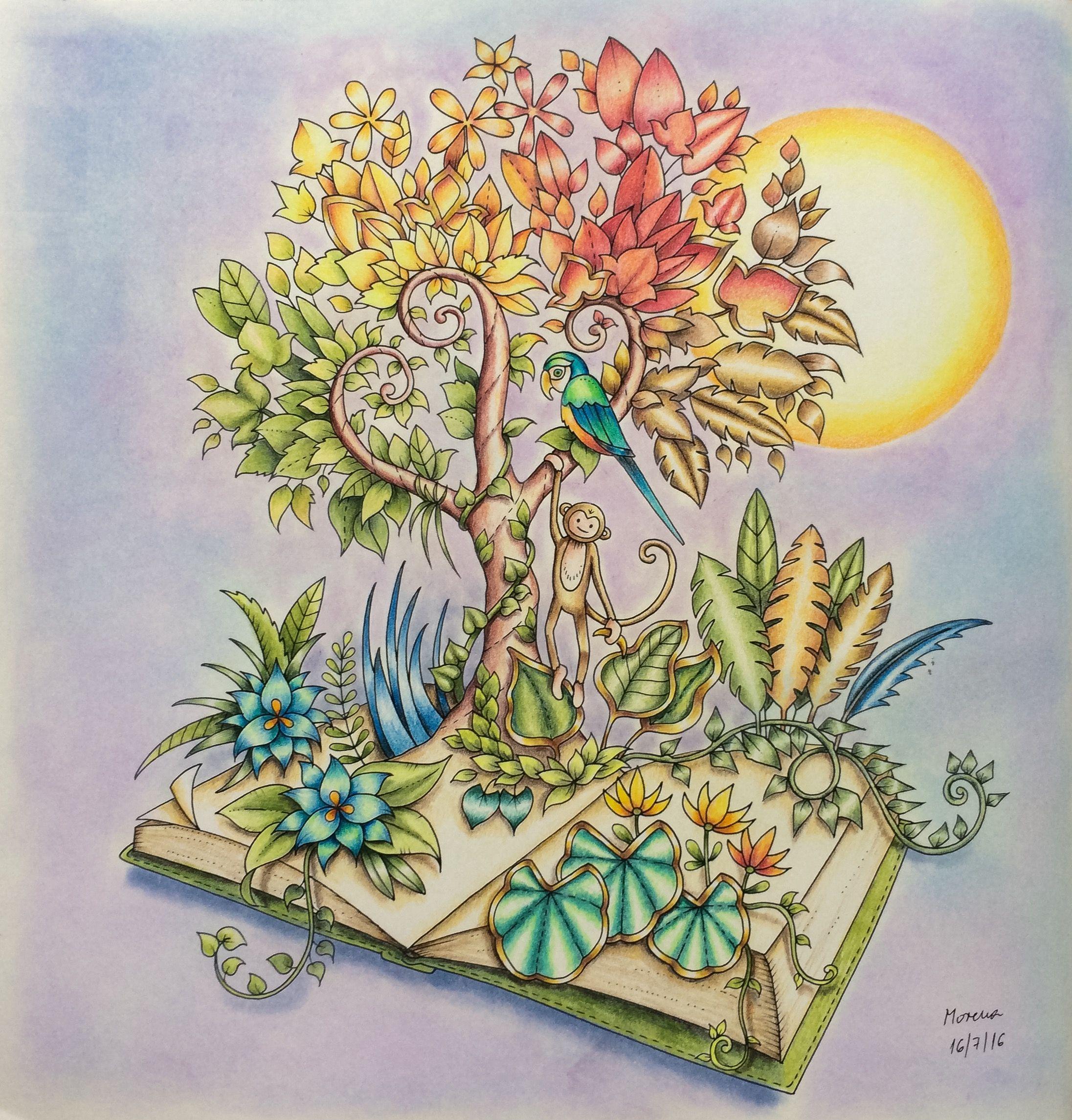 Magical Jungle By Johanna Basford Coloured By Morena