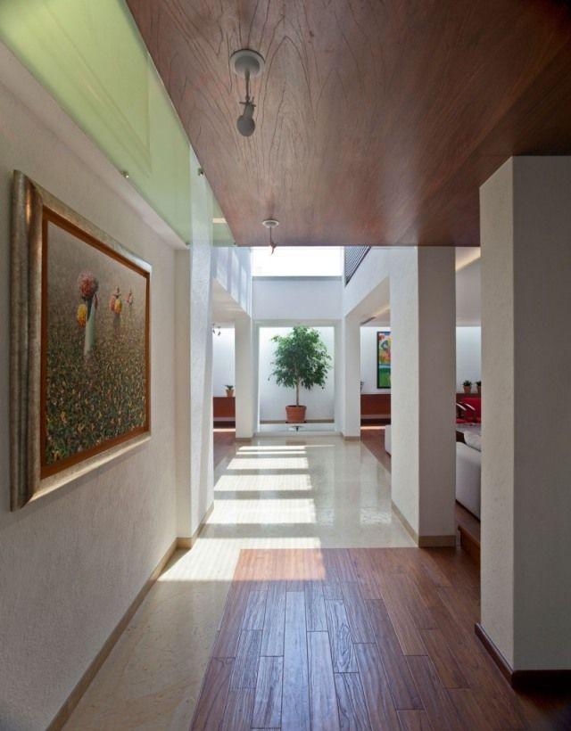 Loft Wohnung-Wand Decke-gestaltung ideen-Wandkunst Gemälde-Encinos