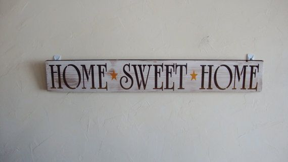 Home Sweet Home  Wood Sign by CraftedbyGale on Etsy, $10.00