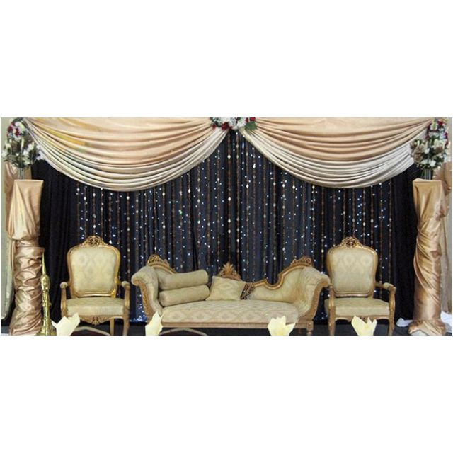 Stage Decor Use White Draping For Clouds Blue Fabric Or