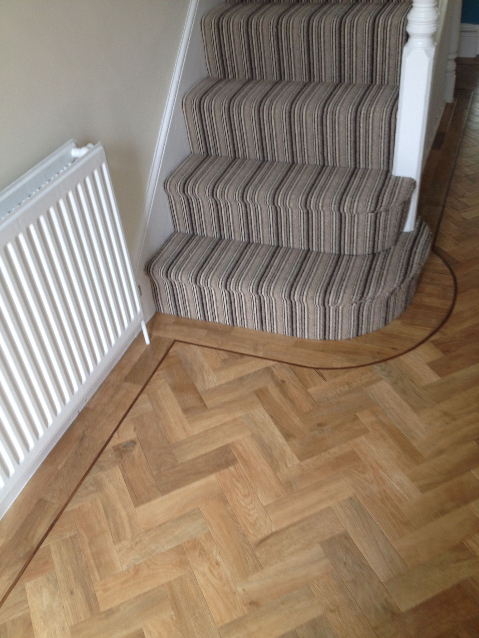 Art Select Blonde Oak Parquet Flooring Hallway Flooring