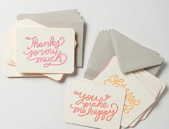 Indenting When Writing Thank You Notes Weddings Thankyou