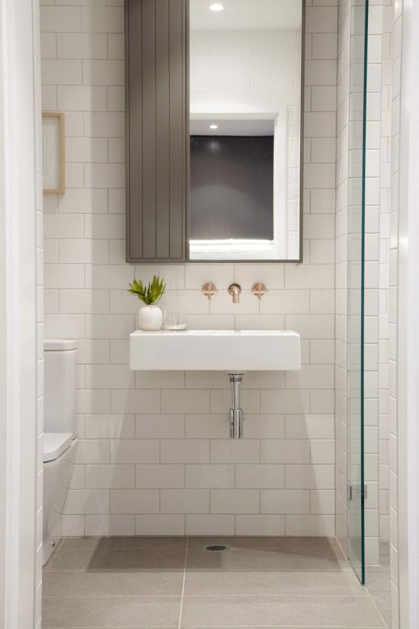 Gallery Of Inspiration Astra Walker Powder Room Small Powder Room Wall Mounted Taps