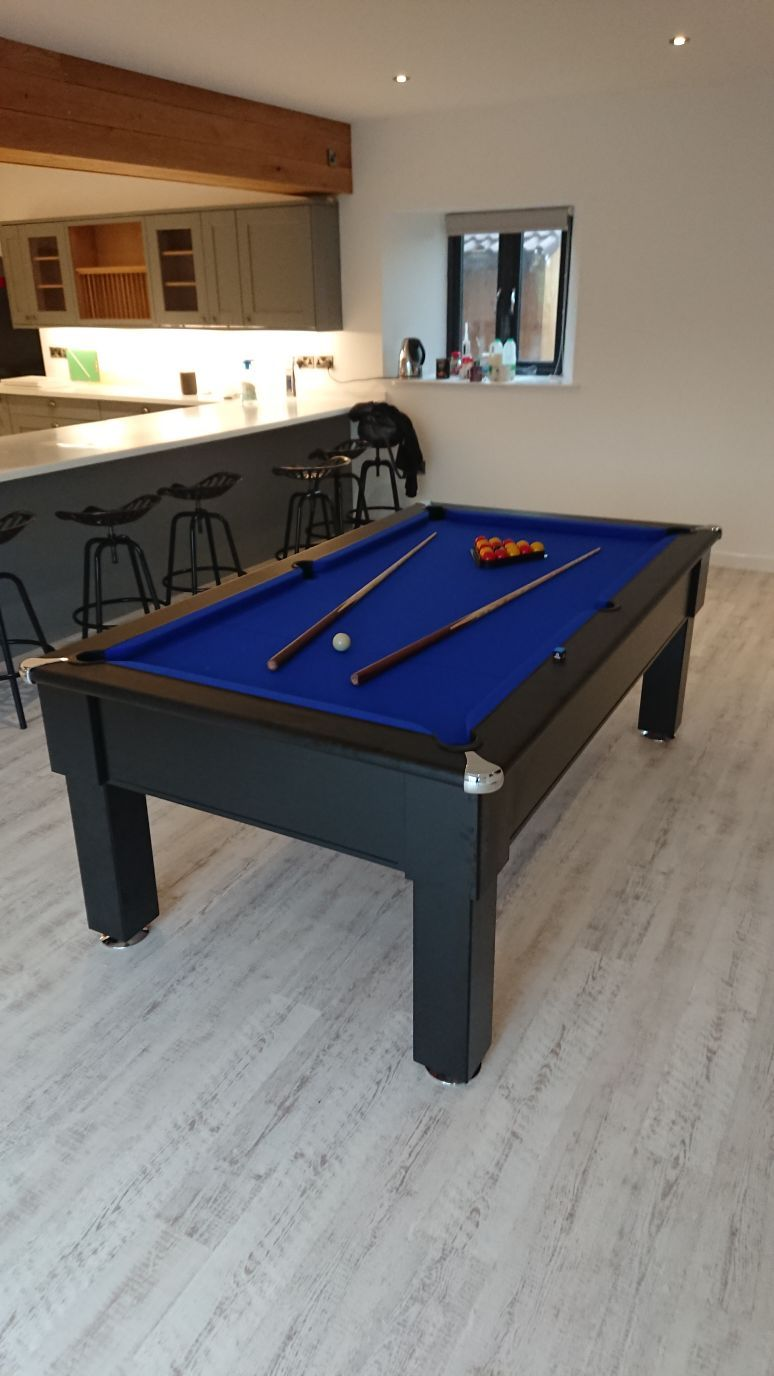 Black Finish Signature Kingston Pool Table Customer Installs - Competition pool table