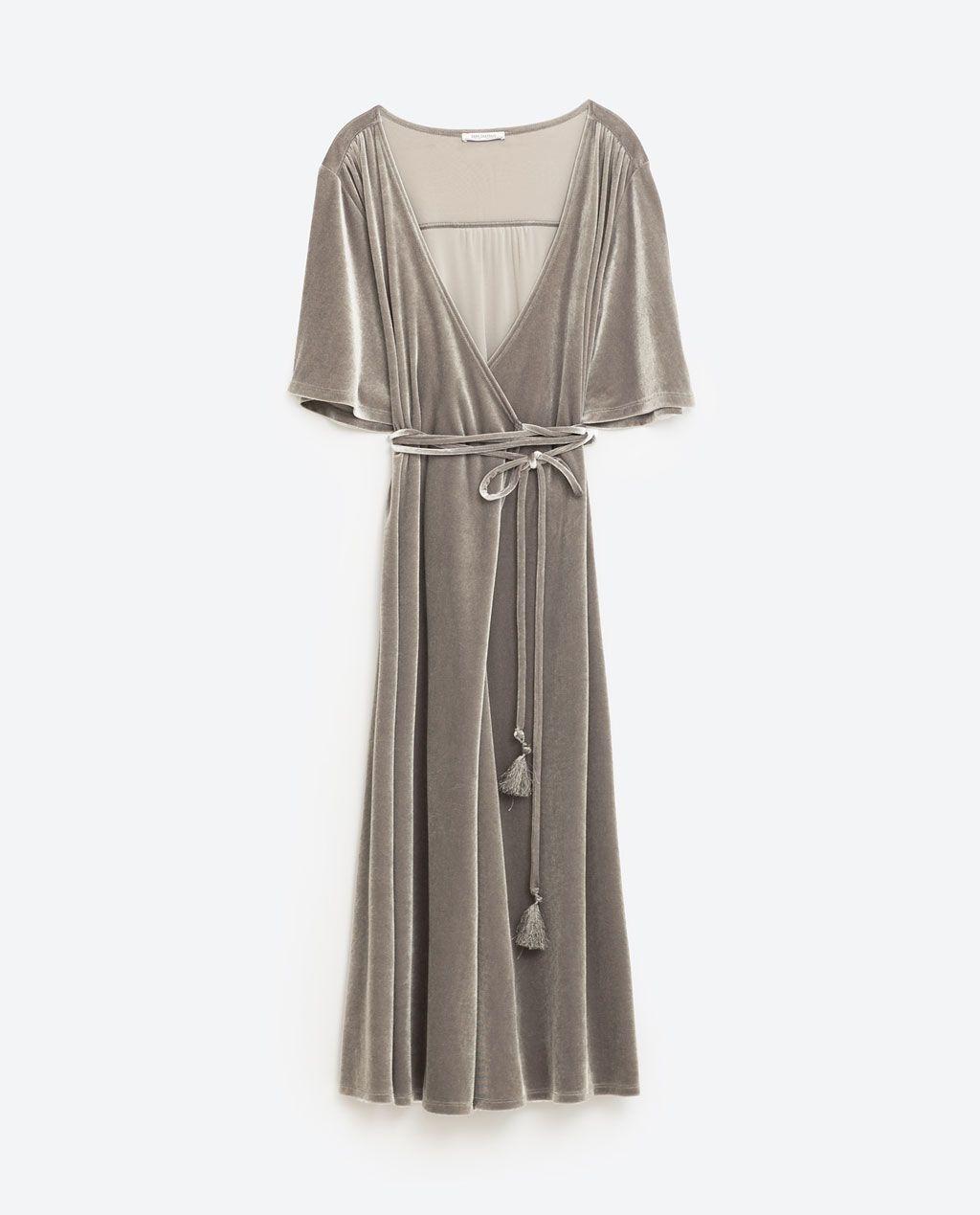 c145bef3 Image 8 of CROSSOVER VELVET DRESS from Zara | Zara | Zara velvet ...