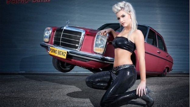 Girls lowrider cars with