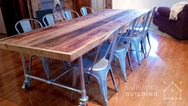 10 Ft Dining Table Diy Dining Room Table Dining Table