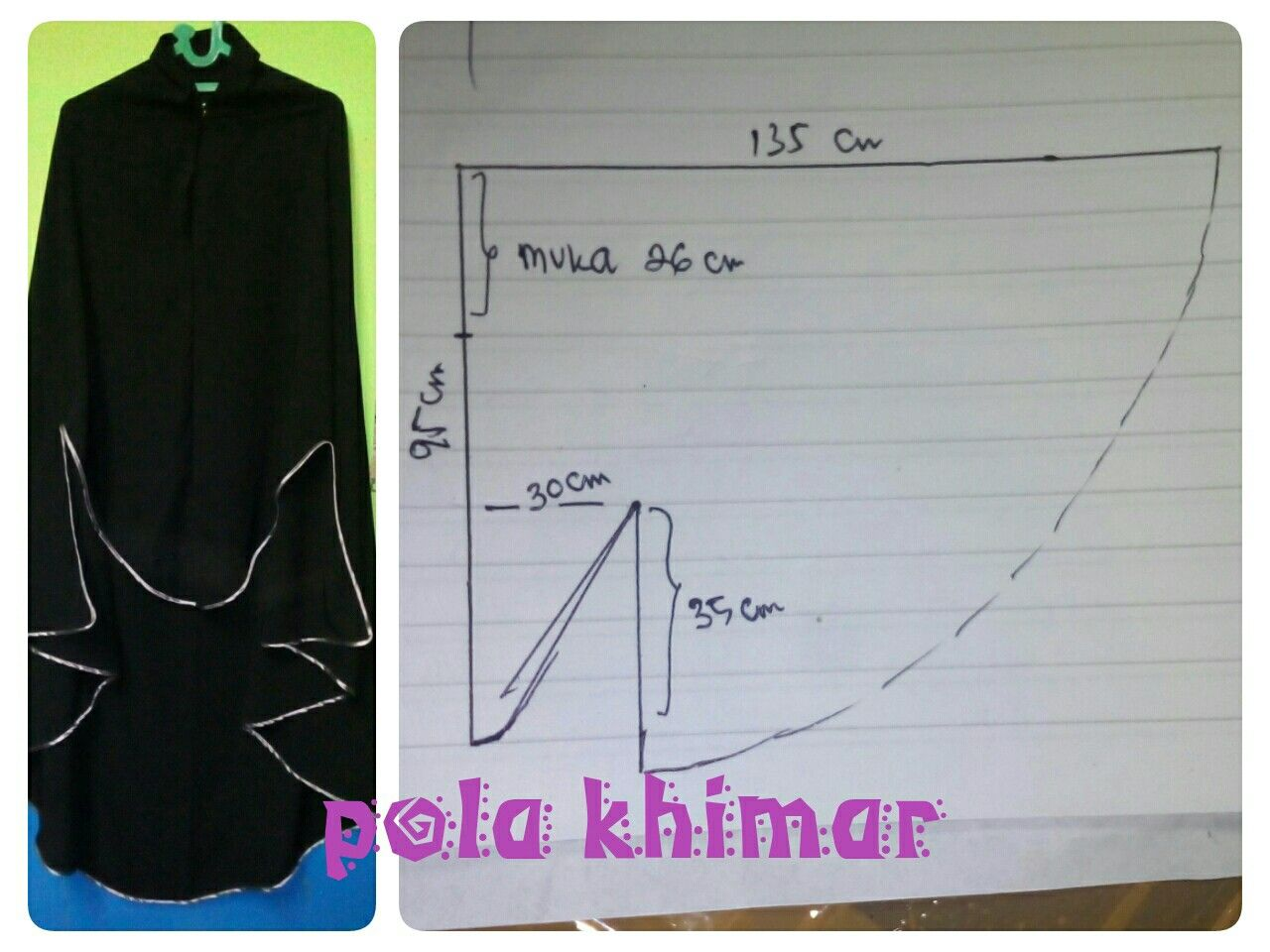 Pola Khimar Gamis Syar I From My Pinterest Abaya Pattern