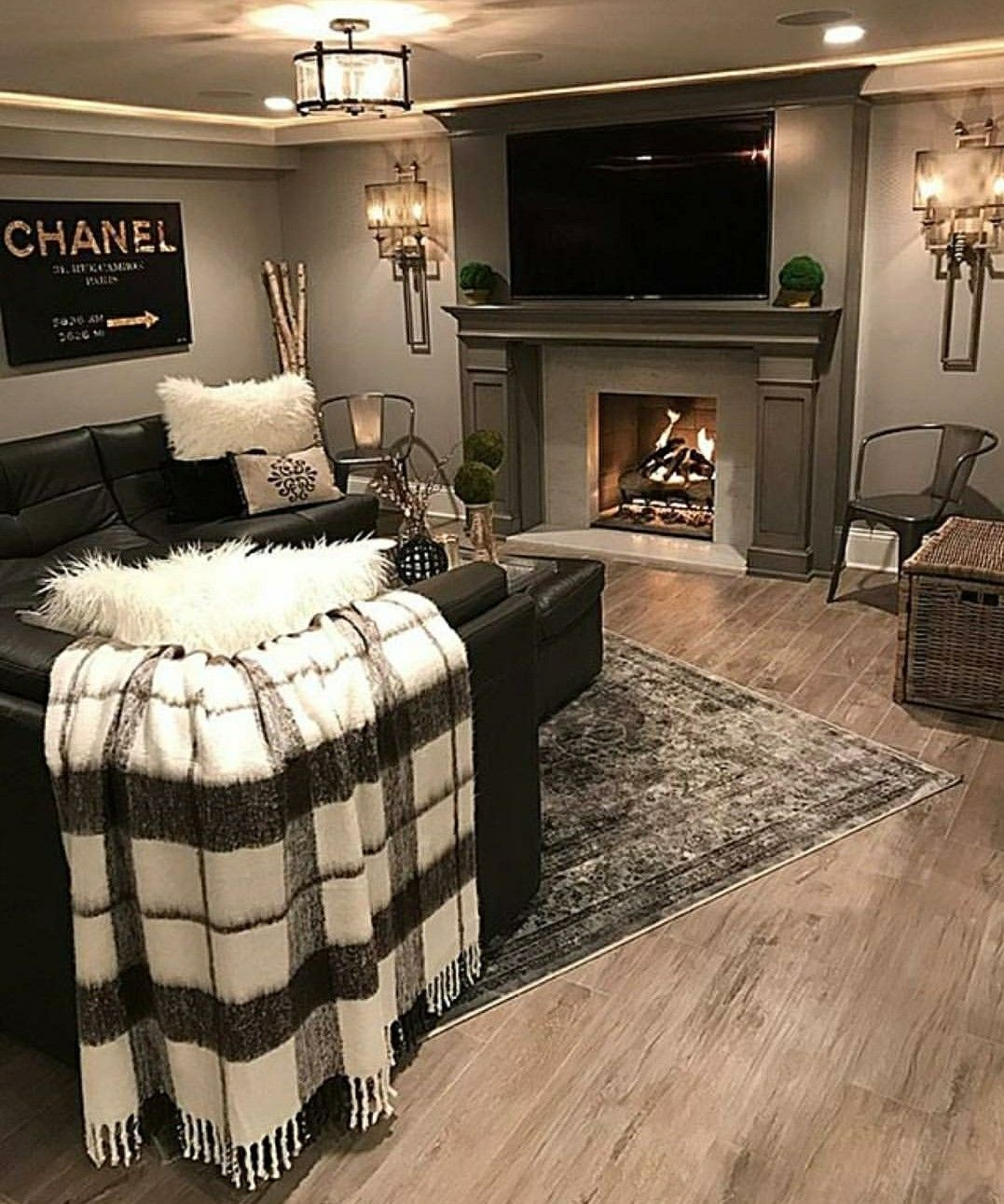 Living Room Themes woman cave? basement decor | for the home | pinterest | woman cave