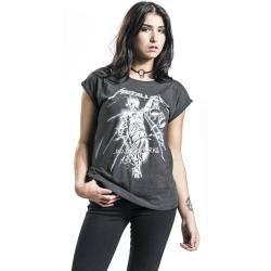 Photo of Metallica Raining Light Damen-T-Shirt – grau – Offizielles Merchandise