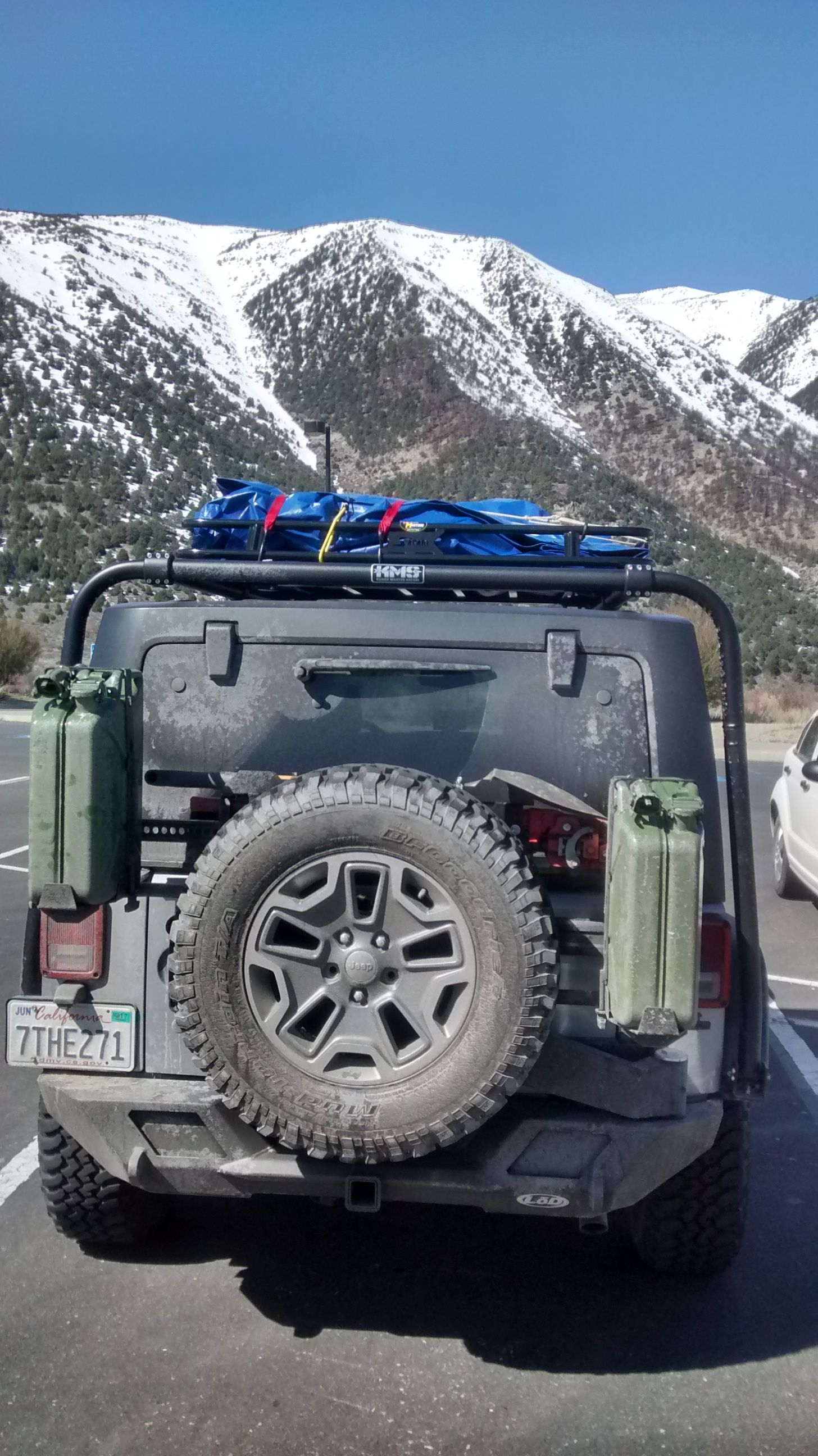 Lod Destroyer Bumper With Tire Carrier Jerrycan Mounts And High