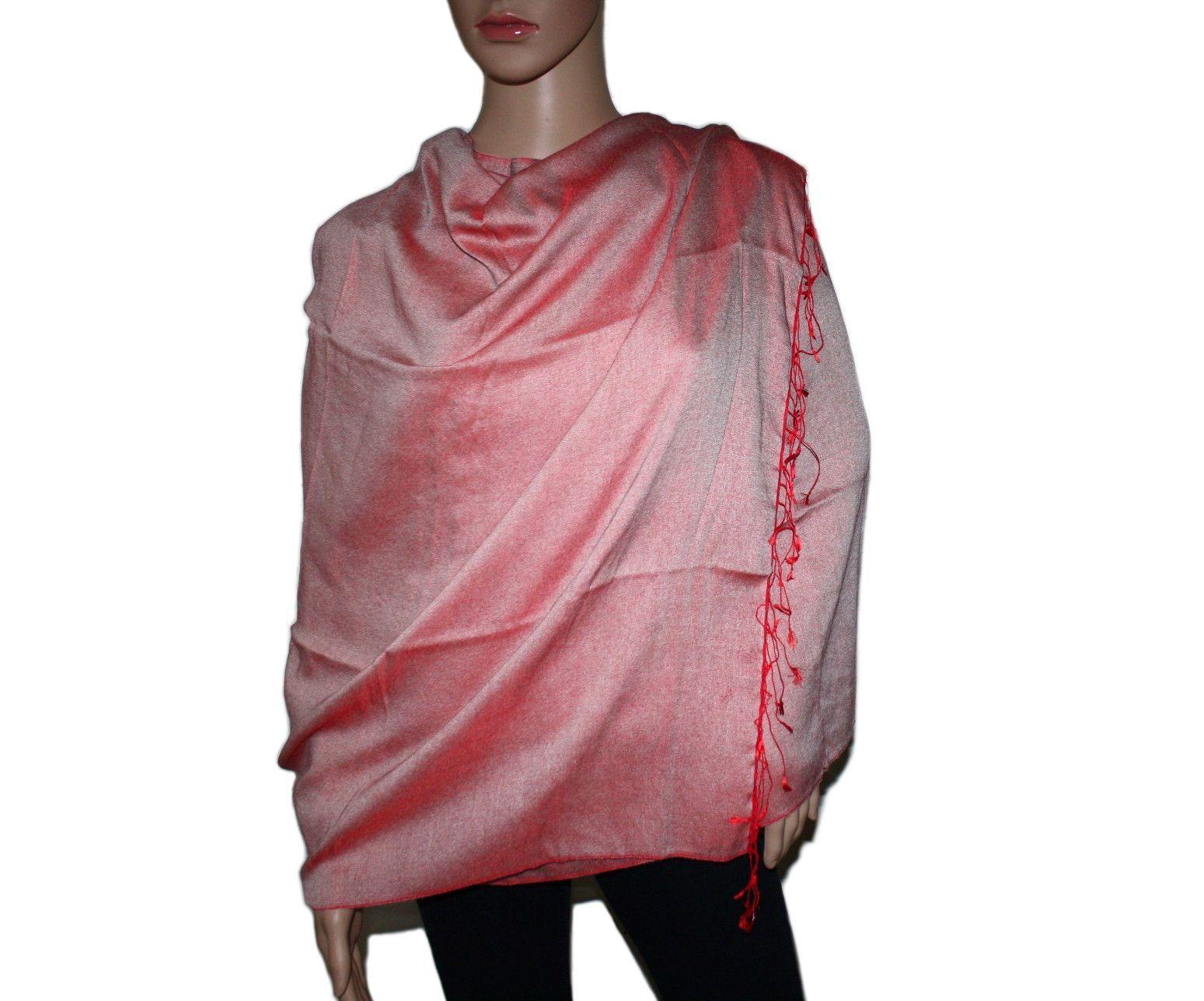 Red Pashmina scarf Pashmina scarf, Cashmere shawl, Wool