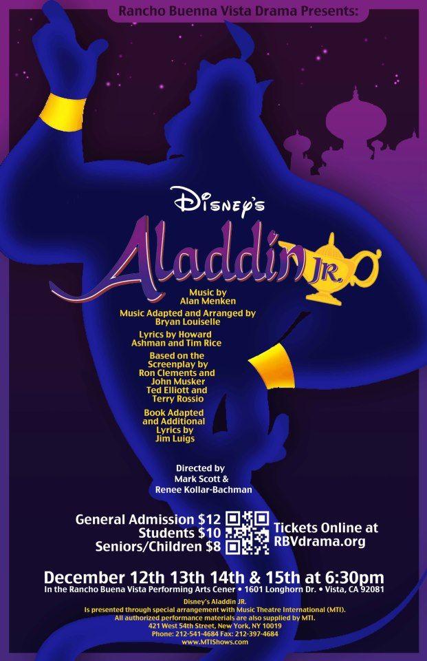 Poster For My Chool S Children Winter Show Aladdin Jr D