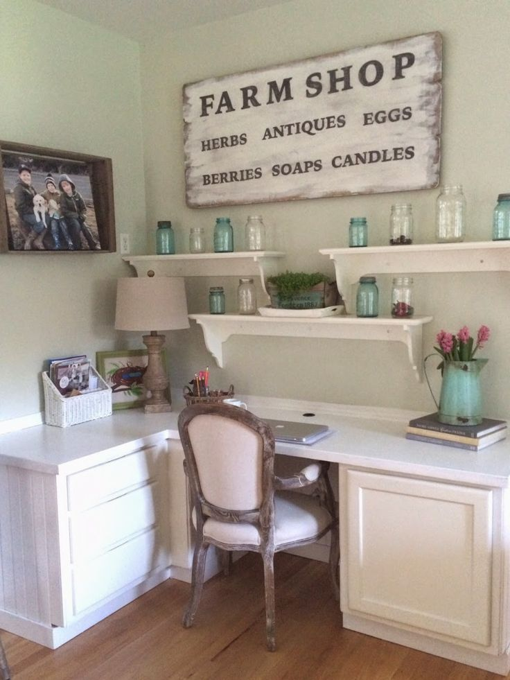 Farmhouse Office Renovation Furniture Redo Style French Country Cottage Cottages Living