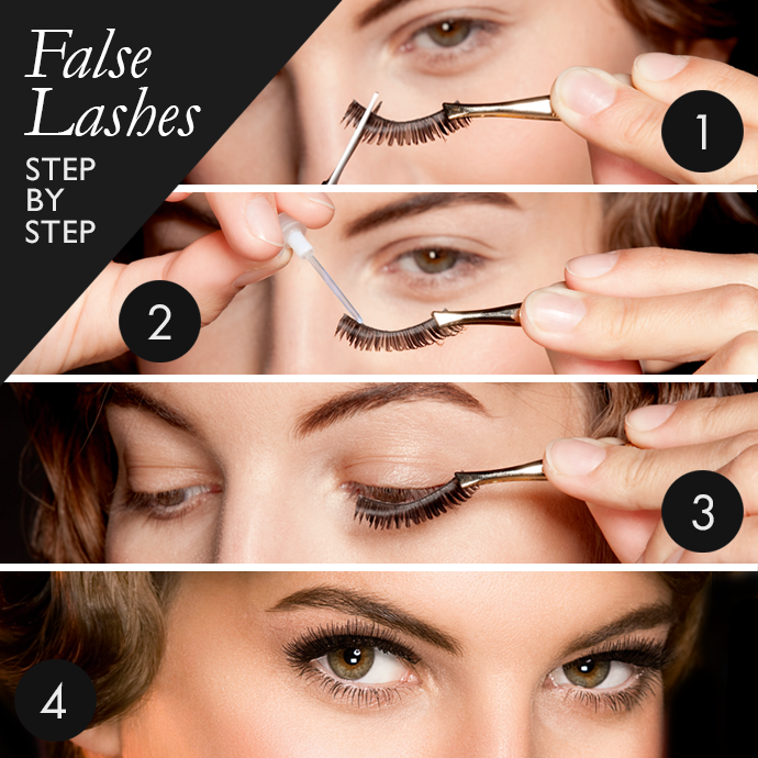 How To Wear Fake Eyelashes For Beginners Step By Step Tutorial Fake Eyelashes Fake Eyelashes Applying Eyelashes How To Apply