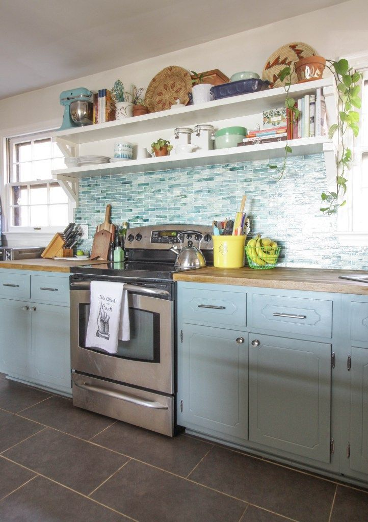 Budget Kitchen Mini Makeover Kitchens Pinterest Blue Gray Magnificent Blue Grey Kitchen Cabinets