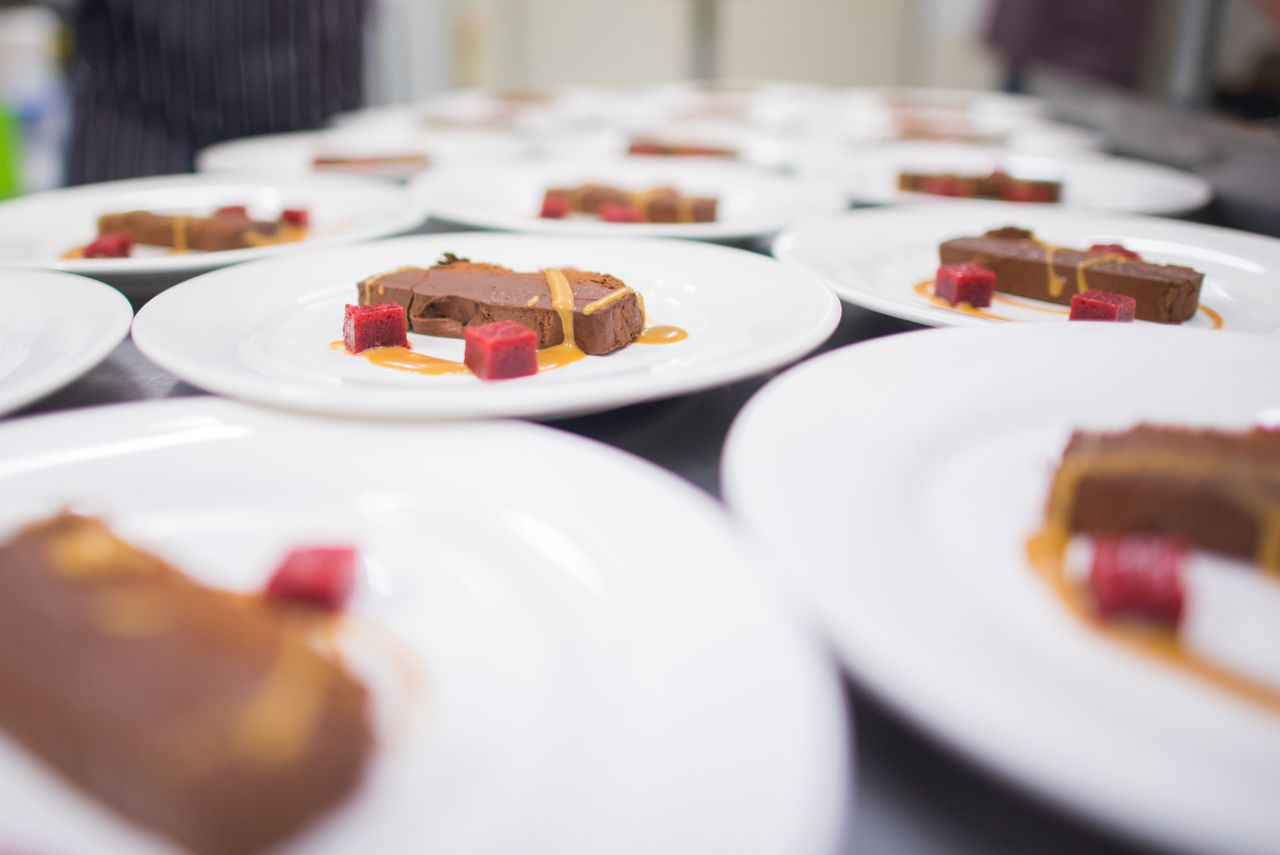 Milk Chocolate Marquise Provided By Unique Norfolk Venues