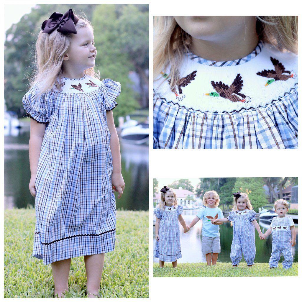 b59977411dbde Smocked Mallard Duck Bishop Dress | Smocking | Smocking, Mallard ...