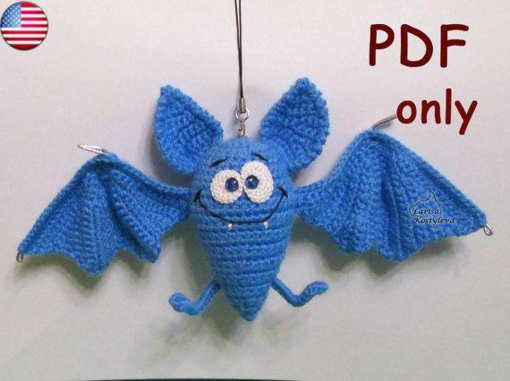 Crochet pattern - Funny Halloween Bat amigurumi animal | Fledermaus ...