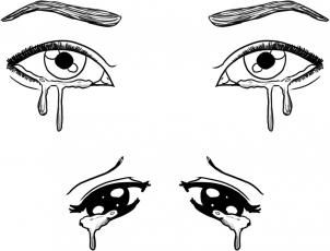 How To Draw Crying Eyes By Dawn Crying Eyes Cry Drawing Drawings