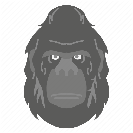 Animal Face Gorilla Zoo Icon Download On Iconfinder Animal Icon Animals Gorilla Zoo