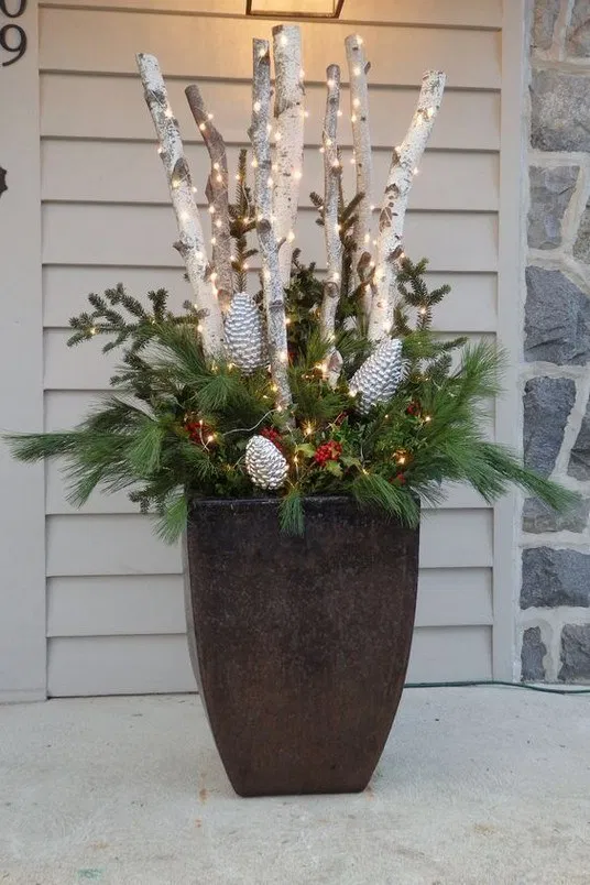 128+ wonderful christmas decorating ideas for magical outdoor spaces