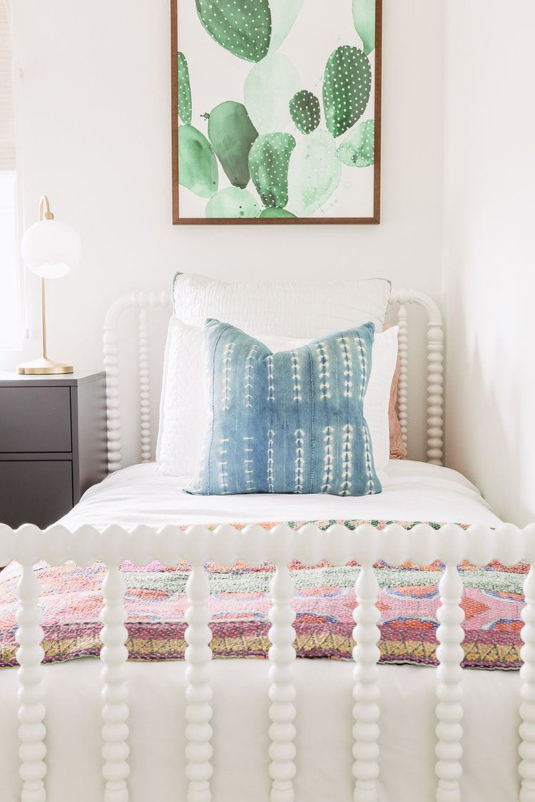 Girls Bed Room Decor With Shibori And Cactus Boho Accessories Beauteous Accessories For Bedroom Decorating Design