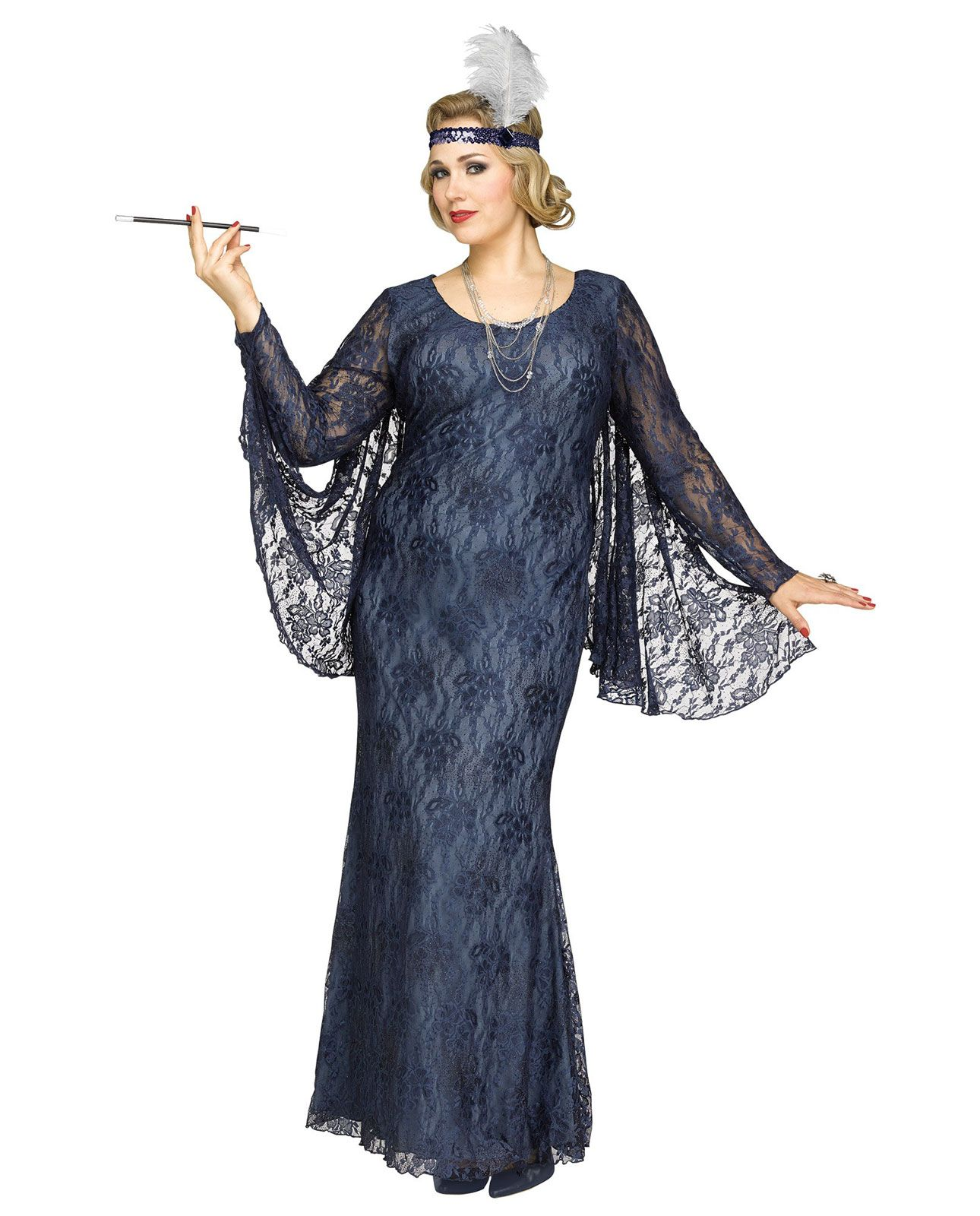 aa5d7a9bbdf 1920s Flapper Gatsby Party Adult Women s Plus Size Dress Costume ...