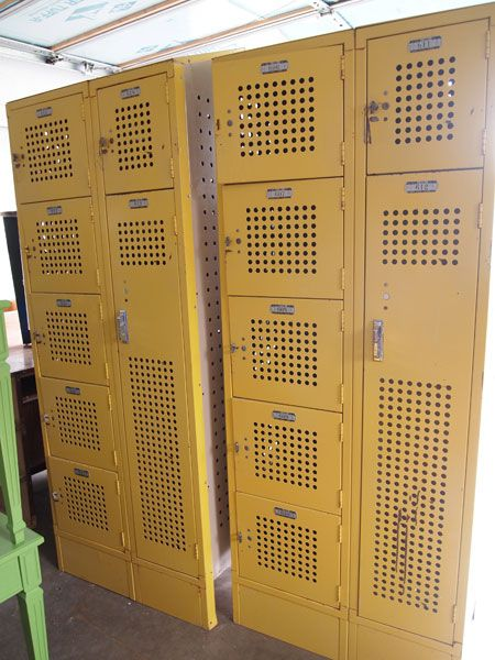 Repurpose Vintage Lockers As Mudroom Storage | Cape27Blog.com