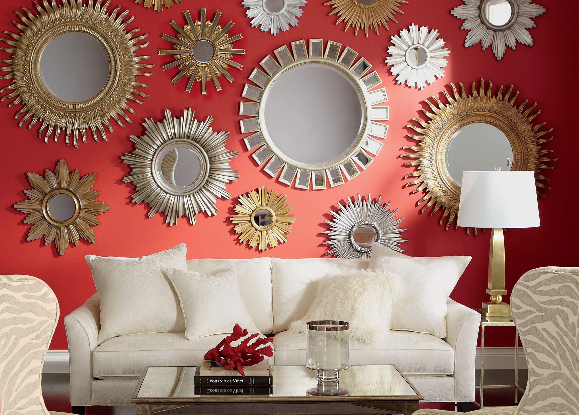 Mini Silver Starburst Mirror Mirror Decor Mirror Wall Living Room Mirror Design Wall #silver #mirrors #for #living #room