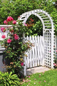 Bon White Picket Garden Gate   Google Search