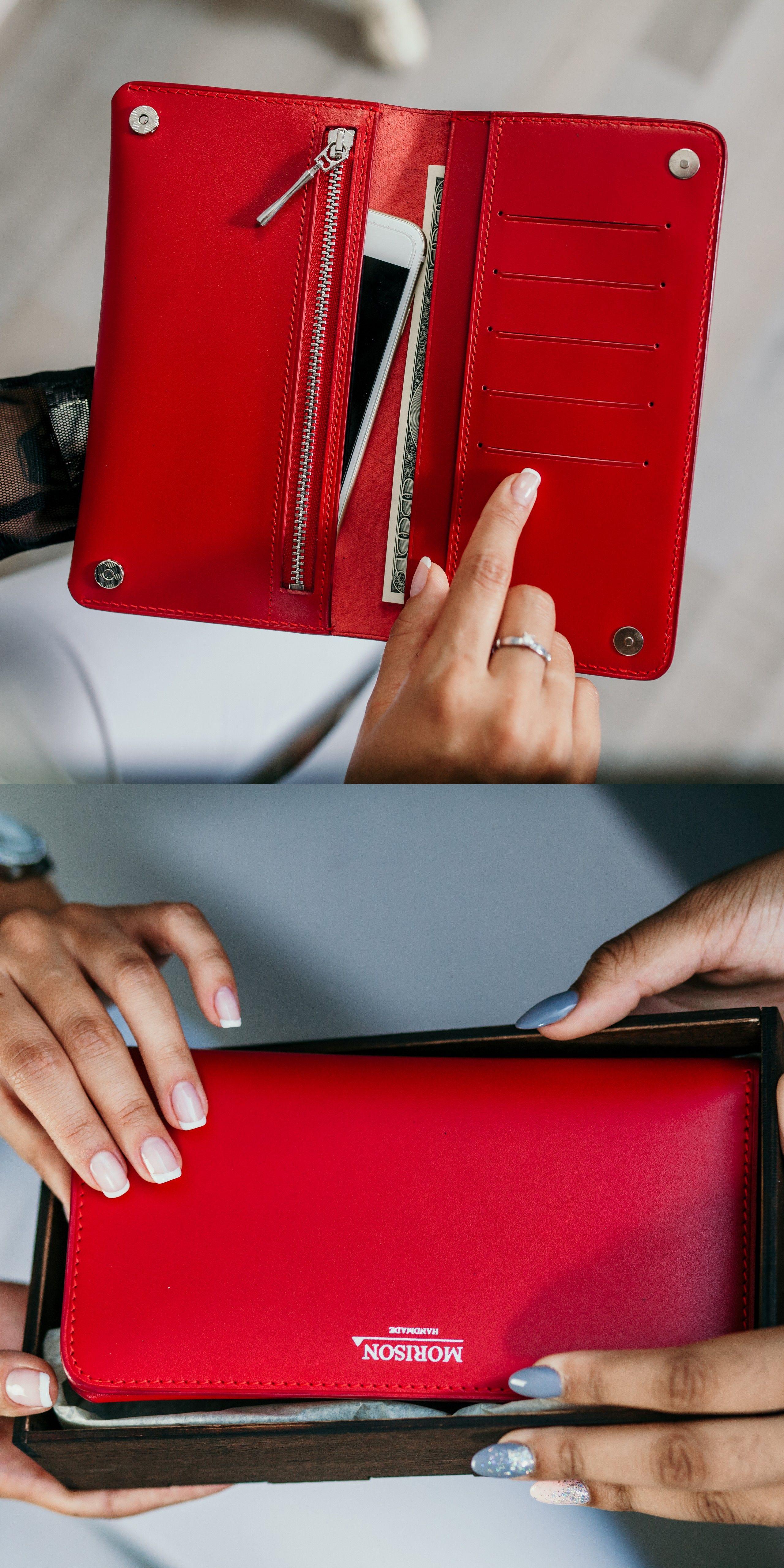 Engraving red wallet Custom womens wallet Leather womens wallet Long womens wallet  Wallet for mom Red leather wallet Personalized wallet in 2020 | Wallets for  women leather, Wallets for women, Leather wallet