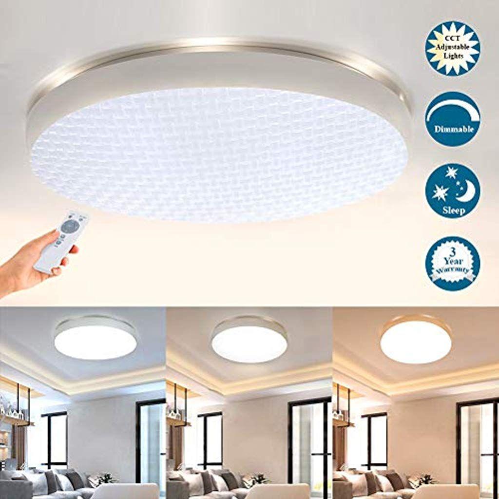 Deckenlampe Led Deckenleuchte Mit Fernbedienung Dimmbar Wohnzimmer