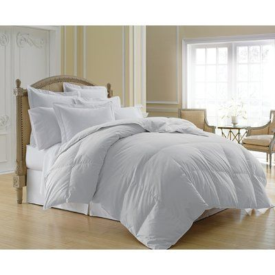 White Noise Midweight All Season Down Comforter Wayfair In 2020 Down Comforter White Down Comforter Home