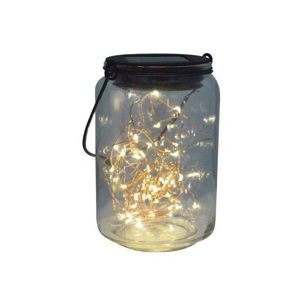 LED Fairy Jar Solar Lights ($8.81) found on Polyvore featuring filler