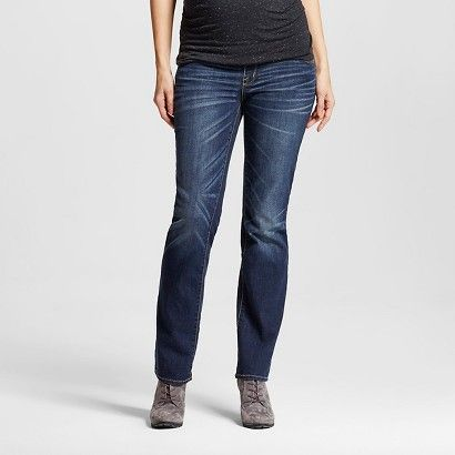 12a11e7eeae85 Maternity Over the Belly Bootcut Jean - Dark Wash - Liz Lange® for Target
